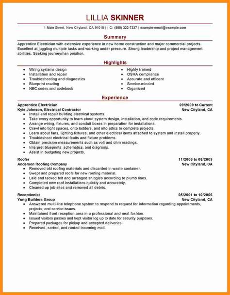 apprentice electrician resume best resumes