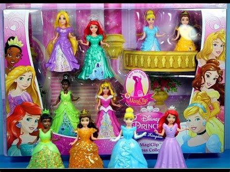 disney magiclip princess  kingdom collection dresses tiana cinderella ariel belle