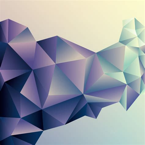Abstract Minimalist Geometric Shapes by Free Vectors 3d Geometric Shape Background