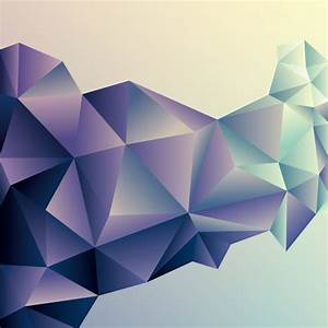 3D geometric shape art background vectors set 06 - Vector ...
