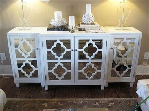 white mirrored sideboard white quatrefoil mirrored sideboard for the home juxtapost 1054