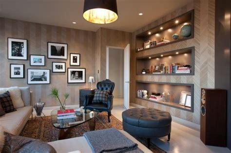 contemporary drywall shelves ideas