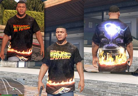 Back To The Future Tshirt Gta5modscom