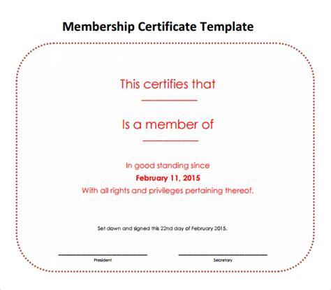 membership certificate template   sample