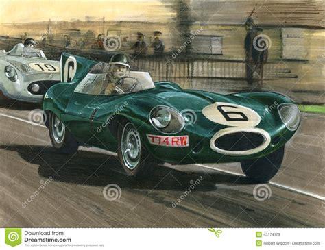 Jaguar 1955 Le Mans Jaguar D-type Editorial Stock Photo