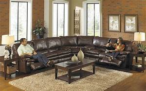 Sectional sofa recliner smalltowndjscom for Sectional sofas with 4 recliners