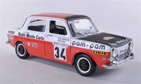 simca 1000 miniature rallye 2 no 34 radio monte carlo rally monte carlo 1973 gelin norev 1 18
