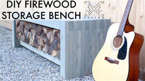 outdoor wood storage bench wood storage bench diy bench