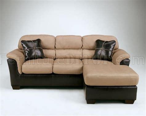 small faux leather sofa ashley 51201 mocha fabric small sectional sofa w faux