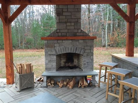 best 25 outdoor fireplace kits ideas on