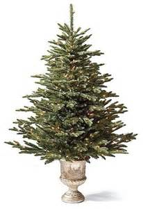 pre lit tabletop deluxe fraser artificial tree traditional plants by frontgate