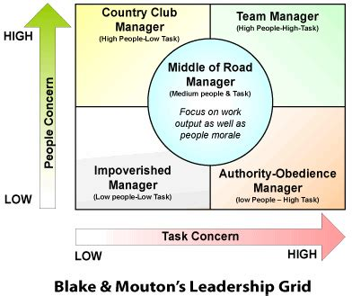 blake  mouton leadership grid riskmanagement