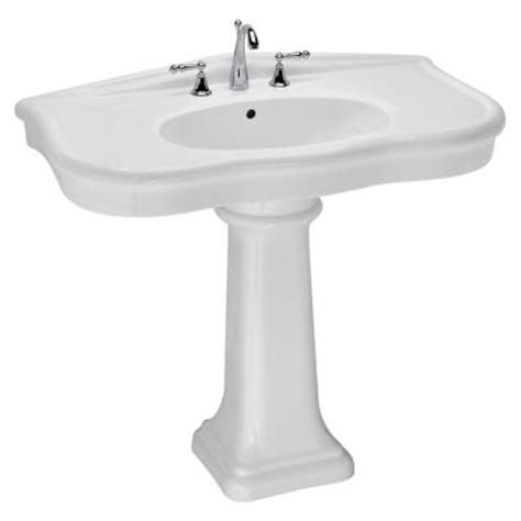 home depot pedestal sink st thomas creations st thomas by icera parisian 7 in