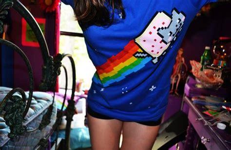 Cute Girl Nyan Nyan Cat Shirt Image 447045 On