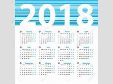 2018 Weekly Calendar Week Numbers Calendar Printable Free