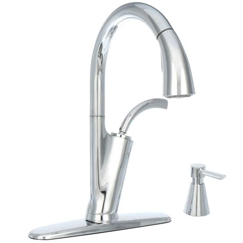 glacier bay kitchen faucet reviews glacier bay heston single handle pull sprayer kitchen
