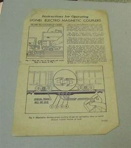 1945 Lionel Trains Instructions For Operating Electro