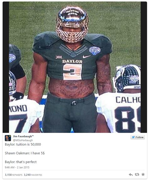 Football Player Meme - shawn oakman tweets know your meme