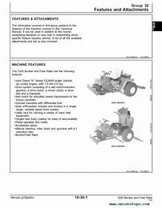 John Deere 1200 Bunker  Field Rake Tm1525 Technical Manual