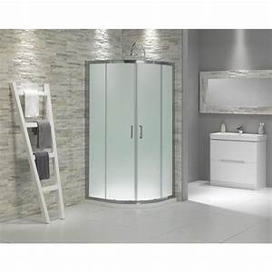 Frosted glass quadrant shower enclosure 900 now gbp179 for Victoria plumb bathrooms uk