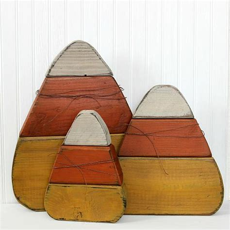 simple rustic candy corn wooden decor project  decoart