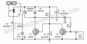 Emergency Light Battery Guard Circuit Diagram Schematic