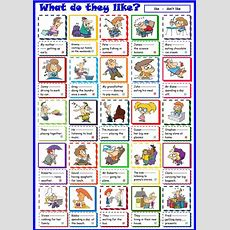 What Do They Like? Worksheet  Free Esl Printable Worksheets Made By Teachers