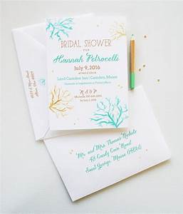 bridal shower invitations bridal shower invitation With wedding shower invitations beach theme