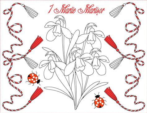 Alerta maxima baietilor, vine 1 martie. Nicole's Free Coloring Pages: 1 Martie Martisor * Coloring Greeting Cards