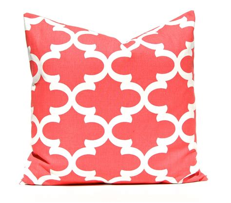 colored throw pillows coral pillow decorative pillow throw pillow coral pillow