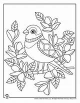 Coloring Bird Cute Adult Pages Spring Printables Activities sketch template