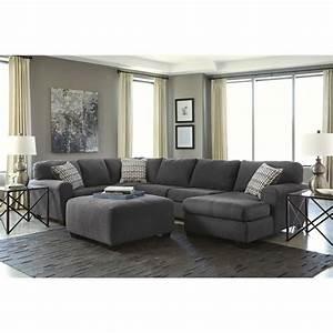 ashley sorenton right facing 4 piece sectional with With ashley sectional sofa with ottoman