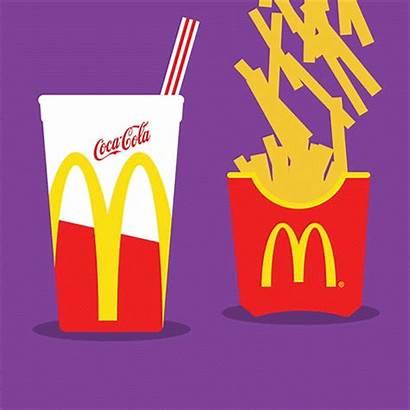 Mcdonalds Animated Clipart Gifs Burger Fries Coke