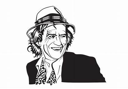 Keith Richards Vector Coloring Portrait Malvorlage Kleurplaat