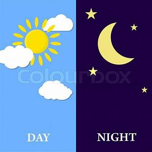Night And Day : day night concept sun and moon day night icon vector ~ A.2002-acura-tl-radio.info Haus und Dekorationen