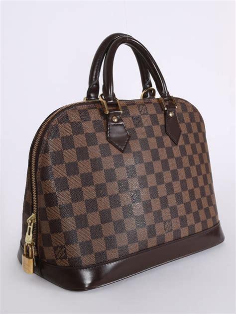 louis vuitton alma pm damier ebene canvas luxury bags