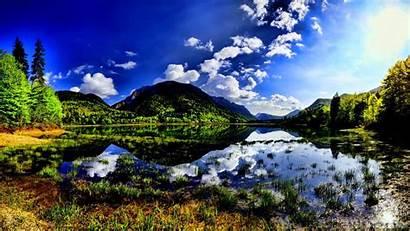 Lake Mountain Desktop Reflection Backgrounds Wallpapers Reflections