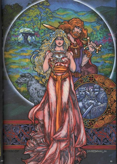 JIM FITZPATRICK-Cu Chalain & Niamh   Celtic fantasy art ...