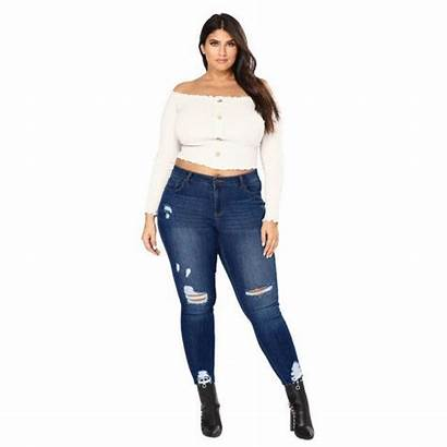Ripped Jeans Pants Denim Stretch Skinny Slim