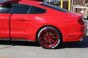white michelin tire stickers red ford mustang rear With michelin white letter motorcycle tires