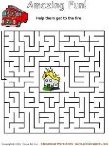 Fire Safety Maze Printable