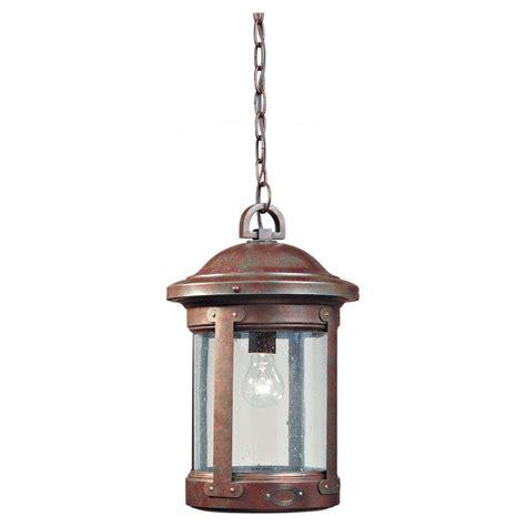 sea gull lighting herrington 1 light black outdoor hanging