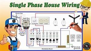 Single Phase House Wiring Diagram    Energy Meter    Single Phase Db Wiring