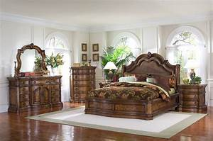 Pulaski furniture san mateo 4 pc sleigh bedroom set usa for Pulaski bedroom sets