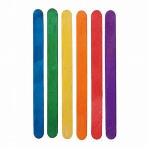 "Colored Wood Craft Sticks 4 5"" 1000pc Box Darice"
