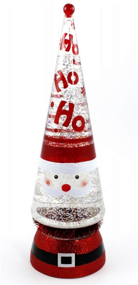 lighted glitter santa lava lamp christmas