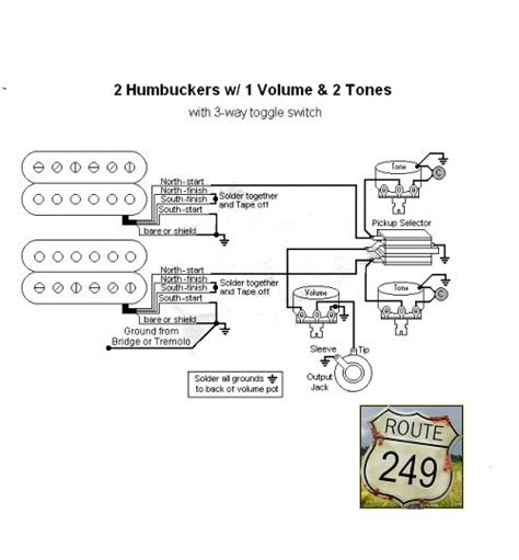 Wiring Two Humbuckers With One Volume Tone