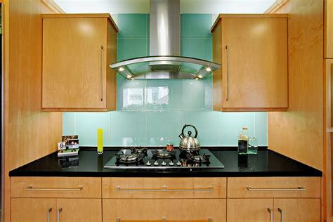 kitchen backsplash glass glass tile backsplash kitchen contemporary with beige wall