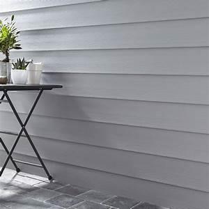 Bardage Exterieur Pvc : clin pour bardage pvc gris ral 7045 faza 2 4 m leroy merlin ~ Premium-room.com Idées de Décoration