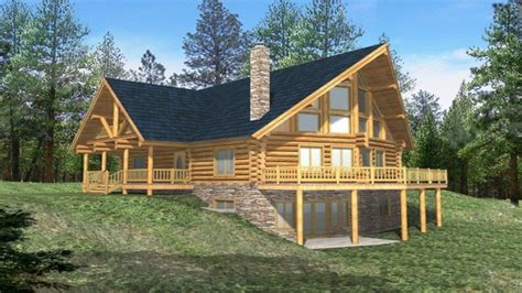 Log Cabin Home Plans by Log Cabin With Wrap Around Porch Log Cabin House Plans